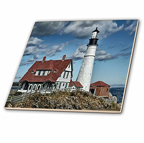 3dRose LLC Portland LigHot House Keramikfliese, 10,2 cm