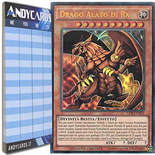 Andycards Yu-Gi-Oh! - Drago Alato di RA - Ultra Rara LDK2-ITS03 in Italiano + Segnapunti