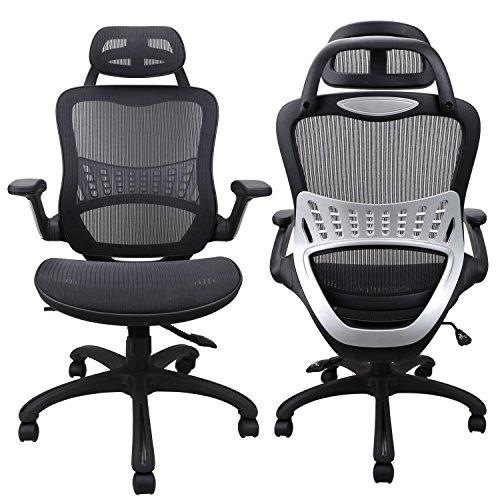 Komene Ergonomic Home Office Desk Chair, Breathable Mesh High Back Desk Chairs, Adjustable Headrest...