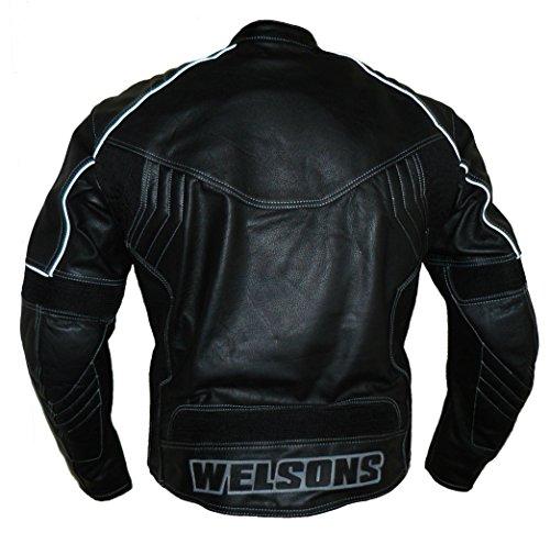 Protectwear WMB-303 Motorrad – Lederjacke,Größe : 60, schwarz - 2