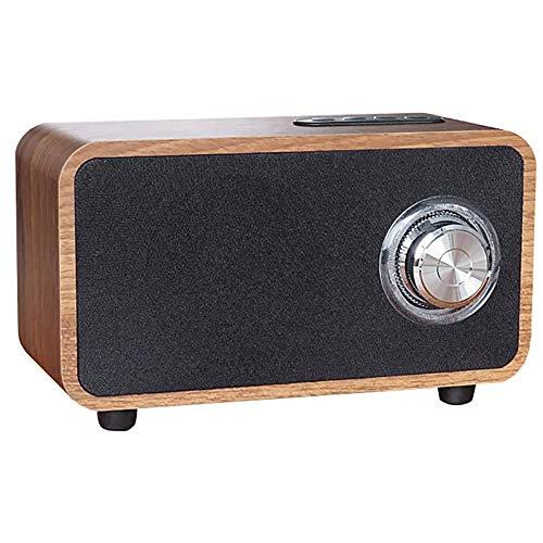 Angelay-Tian Radio Retro de Madera, Radio FM, Altavoz Bluetooth 4.0 MP3, WMA, WAV, FLC, Formato Ape Play para el hogar, al Aire Libre, Fiestas, Viajes (Size : B)