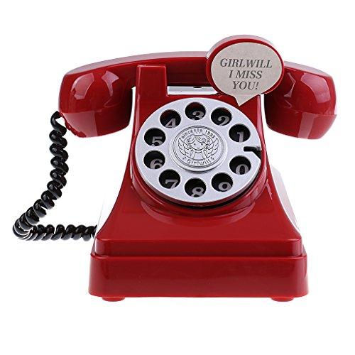 SunniMix Retro Nostálgico Teléfono Hucha Niños
