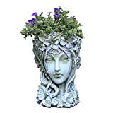 erddcbb Escultura de Estatua de Maceta de Retrato de jardín, Figura de Magnesia Estatua Arte Cama de Flores Patio jardín balcón decoración H39CM