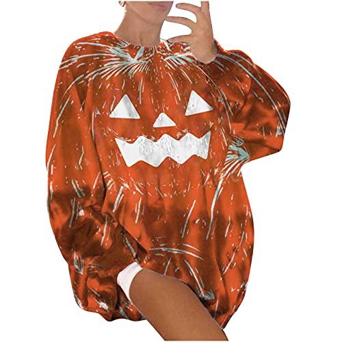 neiabodos 2021Nuevo - Sudadera de manga larga con estampado de calabaza de Halloween para mujer - Elegante...