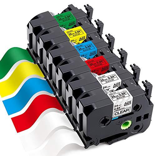 Markurlife Kompatible Schriftband als Ersatz für Brother TZe 24 mm TZ-251 TZ-251 TZ-451 TZ-551 TZ-651 TZ-751 Etikettenband für Brother P-Touch-Etikettendrucker PT-D600VP, PT-P750W, PT-P710BT