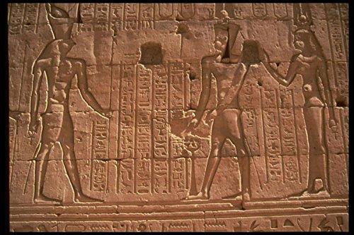 466086 Hiërogliefen Op Muur Bij Kom Ombo Egypte A4 Photo Poster Print 10x8