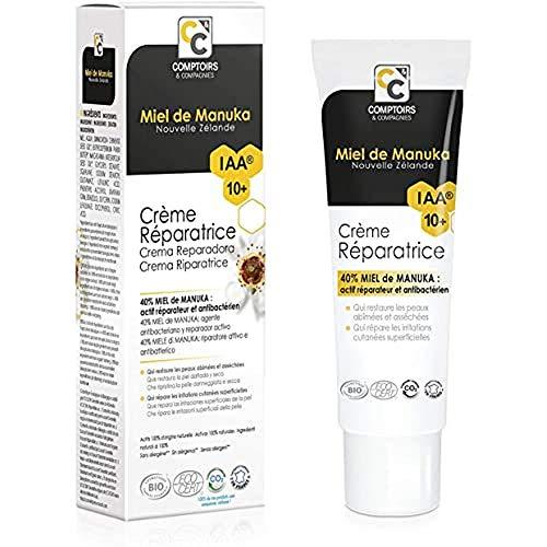 Comptoirs et compagnies iaa10+ crème réparatrice bio 40% miel de manuka - 40 ml