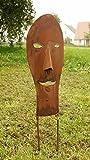 Maske Afrika Kult Rostsäulen Gartendeko klein