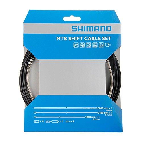 Shimano MTB Schaltzugset Edelstahl mit Hülle SP41S und Kappen