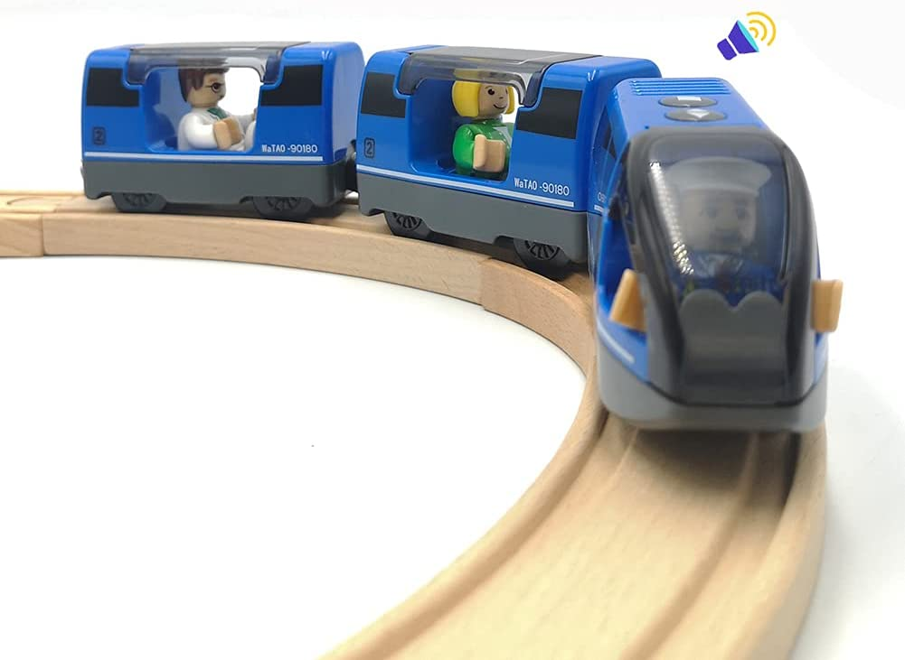 DSHMIXIA Battery Operated New product!! Train San Diego Mall for Wooden Set Track Toys