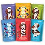 UNREAL Vegan Variety Pack | Less Sugar, Fair Trade, Non-GMO | 6 Bags