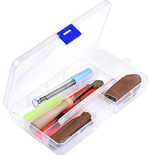 Kit de Principiante Agujas de Fieltrar Kit de Artesanía de Fieltro Agujas Tijeras Pegamento Punzón para Manualidades Artesanía