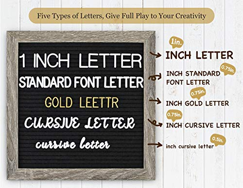 Double Sided Felt Letter Board with Letters - Pre Cut & Sorted 725 White & Gold Characters with Stand, Cursive Style Letters, Big Letters, Plastic Organizer, Tabletop Display. Photo #4
