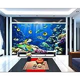 Papel tapiz 3d peces acuario de coral en el fondo del mar pintura decorativa mural 3d papel tapiz mural pared 3 d 400x280cm