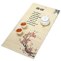 茶道、自然の家の装飾竹のテーブルランナー、環境に優しい竹、結婚式の装飾テーブルマット (Color : STYLE2, Size : M)