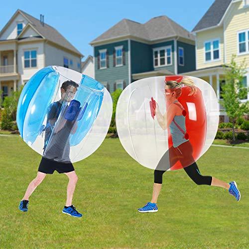 Bubble Balls für Kinder, aufblasbarer Buddy Bumper, Sumo-Spiel, Kinder-Fußball, riesiger menschlicher Hamster, Klopfball, Körper, Zorb, Ball für Kinder und Erwachsene (119,4 cm, rot + blau)
