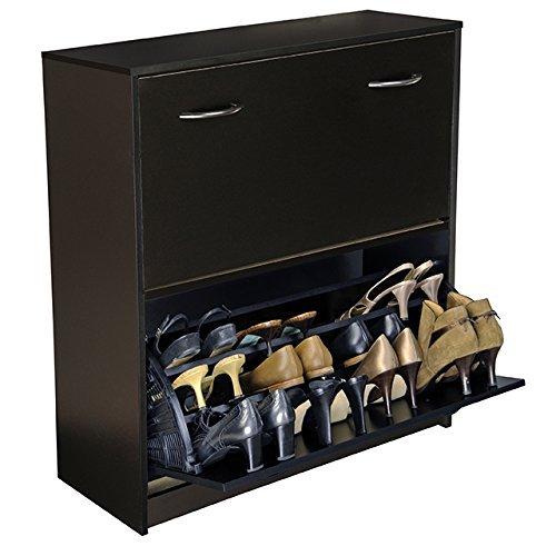 Venture Horizon Double Shoe Cabinet- Black