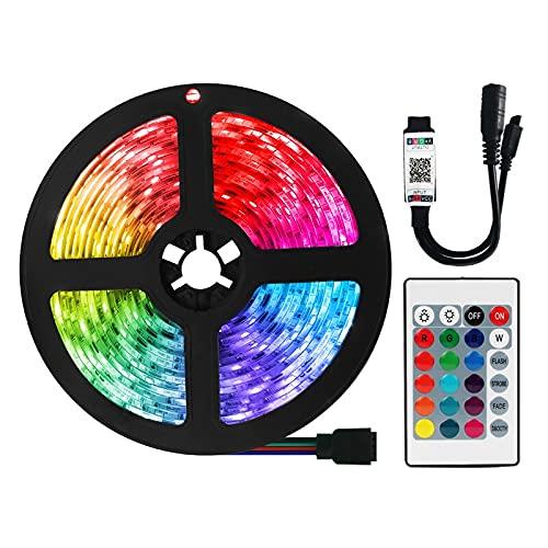 Luz de tira llevada RGB 5050 Luz teledirigida de diodo de cinta impermeable flexible 5M