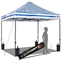 ABCCANOPY 10x10 Outdoor Popup Canopy with Carry Bag,Sandbags,Stakes and Ropes (Blue)