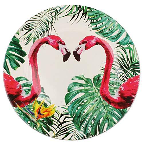 MACOSA WV452 Placemat Set Flamingo 4 stuks Decoratieve schaal Decoratieve borden tafeldecoratie Tuindecoratie