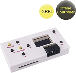 GRBL Offline Controller, CNC Router Offline Control Module Offline Working Remote Hand GRBL Controller LCD Screen for CNC Laser Engraving Milling Machine Wood Router