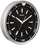 Seiko 14' Ultra-Modern Watch Face Black & Silver Tone with Quiet Sweep Wall Clock