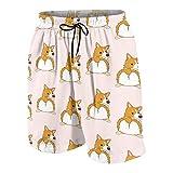 merahans Funny Corgi Dog Butt Boys Girls Quick Dry Beach Board Shorts Cute Swim Trunk