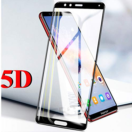 JVSJ 2 STKS Voor 5D Gebogen Gehard Glas Voor Huawei Honor 10 Lite 8X 8C Magic 2 V10 V9 9 Speel Y7 Prime Y9 2018 Geniet 8 Plus Screen Protector, Black, For Honor Magic 2