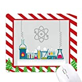 Chemical Reaction Vessel Tool Chemistry Mouse Pad Candy Cane Rubber Pad Christmas Mat