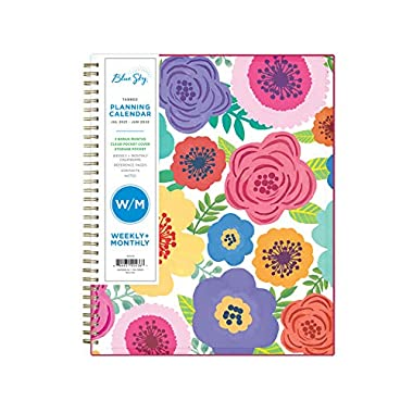 Blue Sky 2021-2022 Academic Year Weekly & Monthly Planner, 8.5″ x 11″, Flexible Cover, Wirebound, Mahalo (100149-A22)