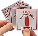 SmartSignFire Extinguisher Inside Label | 2.75' x 2.75' Engineer Grade Reflective