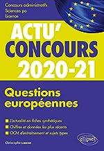 Questions européennes 2020-2021 - Cours et QCM de Christophe Lescot