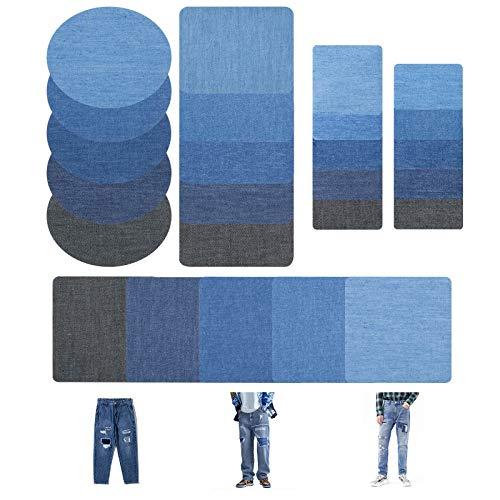 Toppe Termoadesive,XiYee 25 Toppe per Stirare Jeans, Toppe, Toppe per Ferro da Stiro, Riparazione per Jeans, Toppe per Stirare Jeans, Toppe da Incollare Termicamente su Jeans (A)