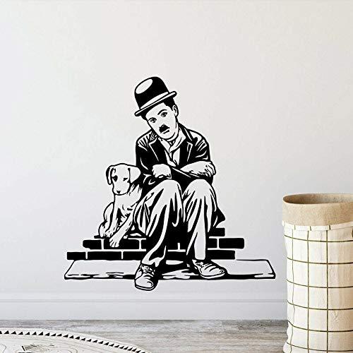 wopiaol Comedy Star Dog met vinyl muurtattoo filmliefhebbers filmliefhebbers kamer woonkamer decoratie muursticker
