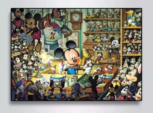 Disney Mickey Mouse Toy Shop Vollrundbohrer 5D Diamond Painting Kit 40x30cm
