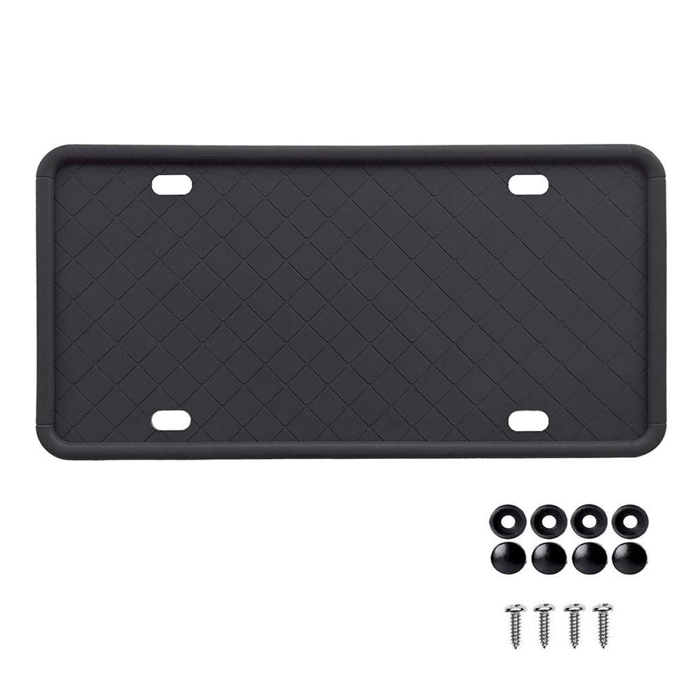 Chawuux Jeep Trailhawk Outline Black Metal License Plate Frame