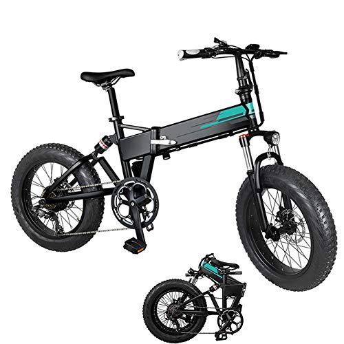 TUKING Electric Mountain Bike Folding Electric Bicycle 20x4 Inch Fat Tire,...