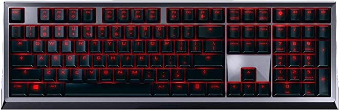 CHERRY MX 6.0 Keyboard - Wired - USB - Backlit - MX Switch - US 104 + 4 Key Layout - Incl. Palm Rest - Black/Silver