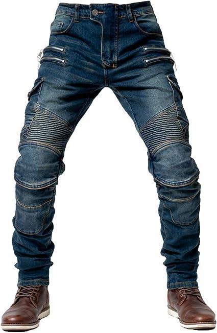Youcai Herren Damen Motorradhose Mit Protektoren Schutzauskleidung Motorradjeans Denim Motorrad Hose Xxl Khaki Auto