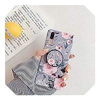 人気度 アート幾何学的な大理石のリングホルダーケースiphone12ケースオンFor SamsungNote 20 Ultra A21S M21 M30S A41 A51 A715Gシリコンカバー-A6-For Samsung A41 EU