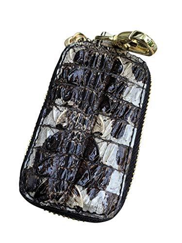 Echtes Original Krokodilleder-Alligator-Leder-Autoschlüsselanhänger, Tasche, Schutz, Leder, Smart-Schlüsselanhänger, Münzhalter, Auto-Fernbedienung, Schlüsselanhänger, Geldbörse für Damen und Herren