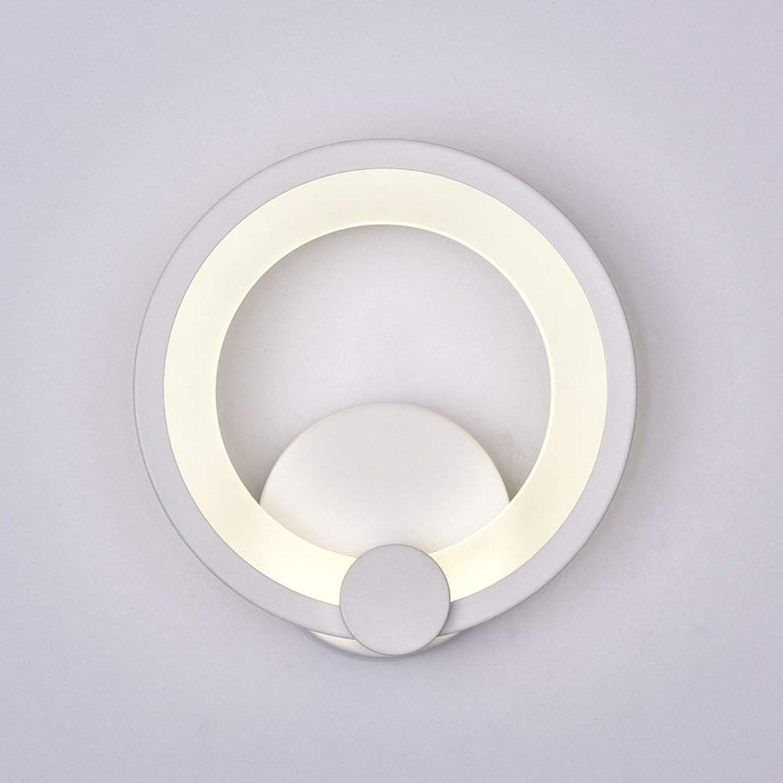 Runde Schlafzimmer Bett Wandleuchte kreative Einfache moderne Gang Lichter Flur Leuchten (Gre  26 cm)