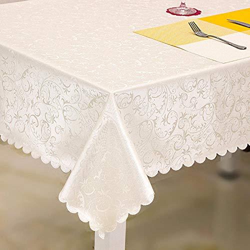 Kuingbhn Mantel Impermeable para Banquetes Boda Recepciones Anti Escaldado y Duradero Formal o Informal Celebrations y Eventos Blanco Hueso 140×200cm