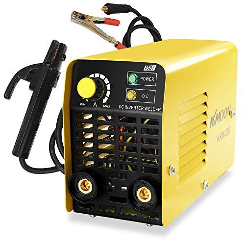 KKmoon インバータ溶接機 KKM-200 ポケット溶接機 専用直流 マニュアルアーク溶接機 家庭用