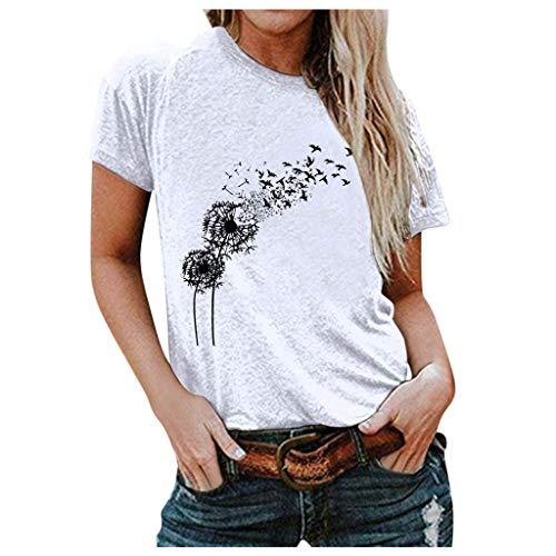 SHZFGUI Women Fashion Casual Summer Printed Short Sleeves T-Shirt Tops