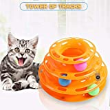 The Pets Company Interactive Tower of Tracks Cat Toy with Balls, Pet Amusement