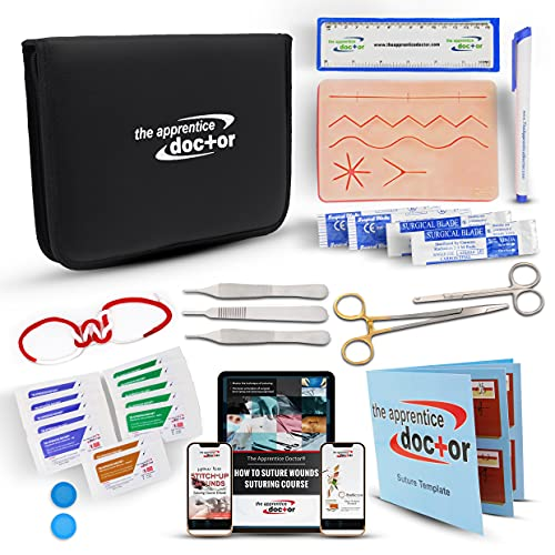 Suture Practice Kit by The Apprentice Doctor   includes Suturing Video Series from an Experienced...