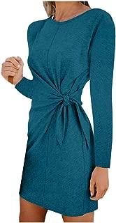 Fashion Women Casual Sexy O-Neck Long Sleeve Daily Dress