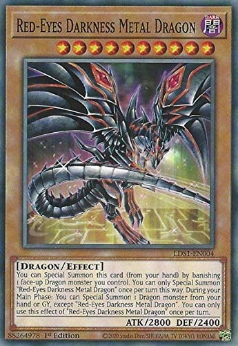 - LDS1-EN004 Alternate Art Common 1st Ed 1x Red-Eyes Darkness Metal Dragon