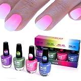 4x farben Thermo Effekt Nagellack Farbwechsel Color Changing Nail Polish